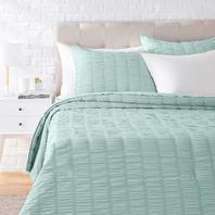 Seersucker Comforter Set - Premium - Full/Queen, Sea Foam Green