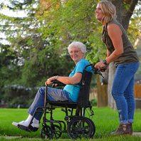 Probasics 19-Inch Transport Aluminum Wheelchair - Black