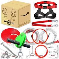 200ft Zipline Kit With Brake Zipline and Trolley Seat (Missing Hardware)