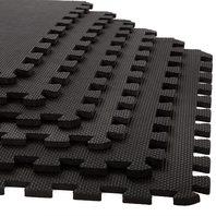 "Foam Mat Floor Tiles, Interlocking Eva Foam Padding By Stalwart 6 Pack, .375"""