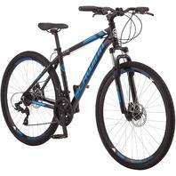 "Schwinn GTX 2.0 Adult Hybrid Dual Sport Bicycle, 18"" Aluminum Frame, Black/Blue"