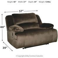 Signature Design Clonmel Contemporary Oversized Zero Wall Recliner - Dark Brown