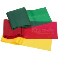 TheraBand Professional Non-Latex Resistance Bands Yellow & Red & Green