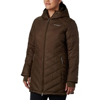 Columbia Women's Standard Heavenly Long Hooded Jacket, Olive Green, Small
