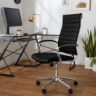 Amazon Basics High-Back Executive Swivel Office Desk Chair - Black