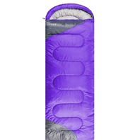 Tuphen- Sleeping Bags For Adults Kids Lightweight & Waterproof (Purple Grey)
