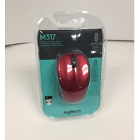 Logitech M317 Wireless Mouse - Red (910-002893)
