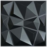 "Art3d 3d Paneling Textured Design, Black Diamond, 19.7"" X 19.7"" (12 Pack)"
