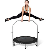 """Serenelife Portable & Foldable Trampoline - 40"""" In-home Mini Rebounder With A..."""