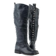 "5.5 Stetson Fashion Boots Womens Round 18"" Studded"