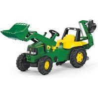 John Deere Classic Green Toy Backhoe Loader