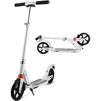 Hikole Kick Scooter With Adjustable Height Dual Suspension And Shoulder Strap