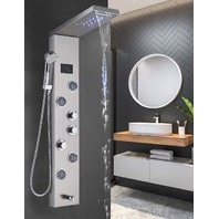 Rozin Stainless Steel Shower Panel Tower System,