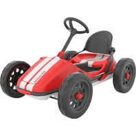Monzi RS Pedal Go-Kart, Folds Down For Easy Storage, Adjustable Seat, Red READ