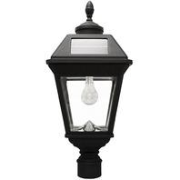 "Gama Sonic Imperial Bulb Light Outdoor Solar Lamp, 3"" Post Mount, Black READ"