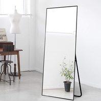 "NeuType 65"" x 22"" Full Length Standing/Hanging Mirror (Black)"