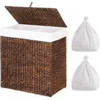 Songmics ULCB52BR Folding Laundry Basket 110 L Brown