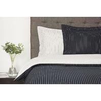 New Season Home Tyra Duvet Cover Set, Black, White