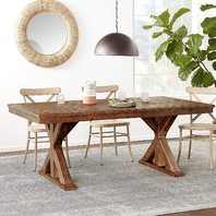 Ashley Dining Room Table, Grindleburg, White/Light Brown (READ)