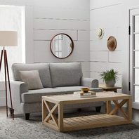 "Stone & Beam Solid Pine Rustic Farmhouse Coffee Table, 52""W, Rustic Oak"