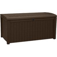Keter Borneo 110 Gallon Resin Deck Box, Brown (READ)
