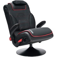 VON Racer Video Gaming Chair, Audio Speakers and Subwoofer (Black)