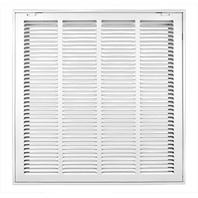 Accord Return Filter Grille With 1/2-Inch  Louvered, 20-Inch X 20-Inch- White