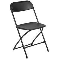 Flash Furniture (1-Pack) HERCULES Series Premium Plastic Folding Chair, Black