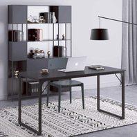 "Coleshome Computer Desk 55"", Modern Simple Style Desk - Black"