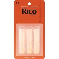 Rico 3 Pack, Sop Sax, #1.5