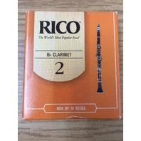RICO Bb. Clarinet 1020 #2 box of 10