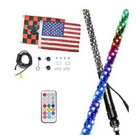 AddSafety 5FT RF Remote Control LED Whips Light with Dancing/Chasing Lights