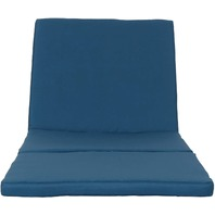 Great Deal Furniture Jessica Outdoor Blue Chaise Lounge Cushion - One Only.
