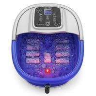 Foot Spa Massager Heat Bubbles 8 Vibration Rollers, Digital Temperature Control