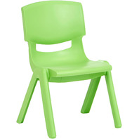 Amazon Basics 10 Inch School Classroom Stack Resin Chair, Green, 6-Pack
