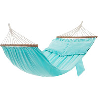 Songmics Hammock, Double Hammock With 2 Pillows, Wooden Bars,  Turquoise