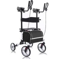 """Beyour Walker Upright Walker, Stand Up Rollator 10"""" Front Wheels, Seat, Armrest"""