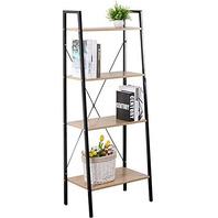 Four Level Wood Shelf With Metal  21020b