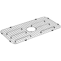 "Moen Stainless Steel Center Drain Bottom Sink Grid, 13.8""X27"" X1.3"","