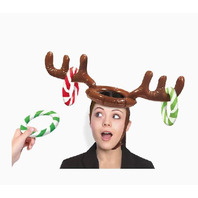 Amscan 24 in. x 5 in. Christmas Inflatable Reindeer Hat Ring Toss Game
