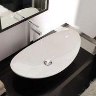 Scarabeo Scarabeo 8206-No Hole-637509864460 Stylish Ceramic Sink Vessel, White