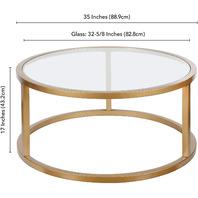 Henn&Hart Round Coffee Table, Brass