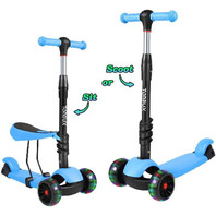 2 In 1 Toddler Scooter 3 Wheel Kick Scooters