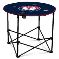 Mlb Texas Rangers Round Tailgate Sporting Table - 4 Cup holders