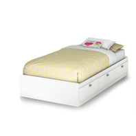 South Shore Spark Mates Bed with Drawers - White