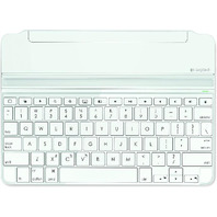 Logitech Ultrathin Magnetic Clip-On Keyboard Cover For iPad Air, Silver/White