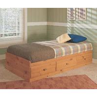 New Visions by Lane Twin Size Storage Bed, Mountan Pine