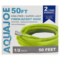Aqua Joe AJFJH50 Ultra Flexible Kink Free Fiberjacket Garden Hose  50-Foot