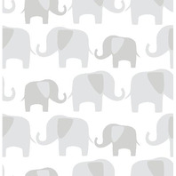 Wall Pops Gray Elephant Parade Peel And Stick Wallpaper
