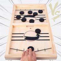 Fast Sling Puck Game, Table Desktop Battle Ice Hockey Game